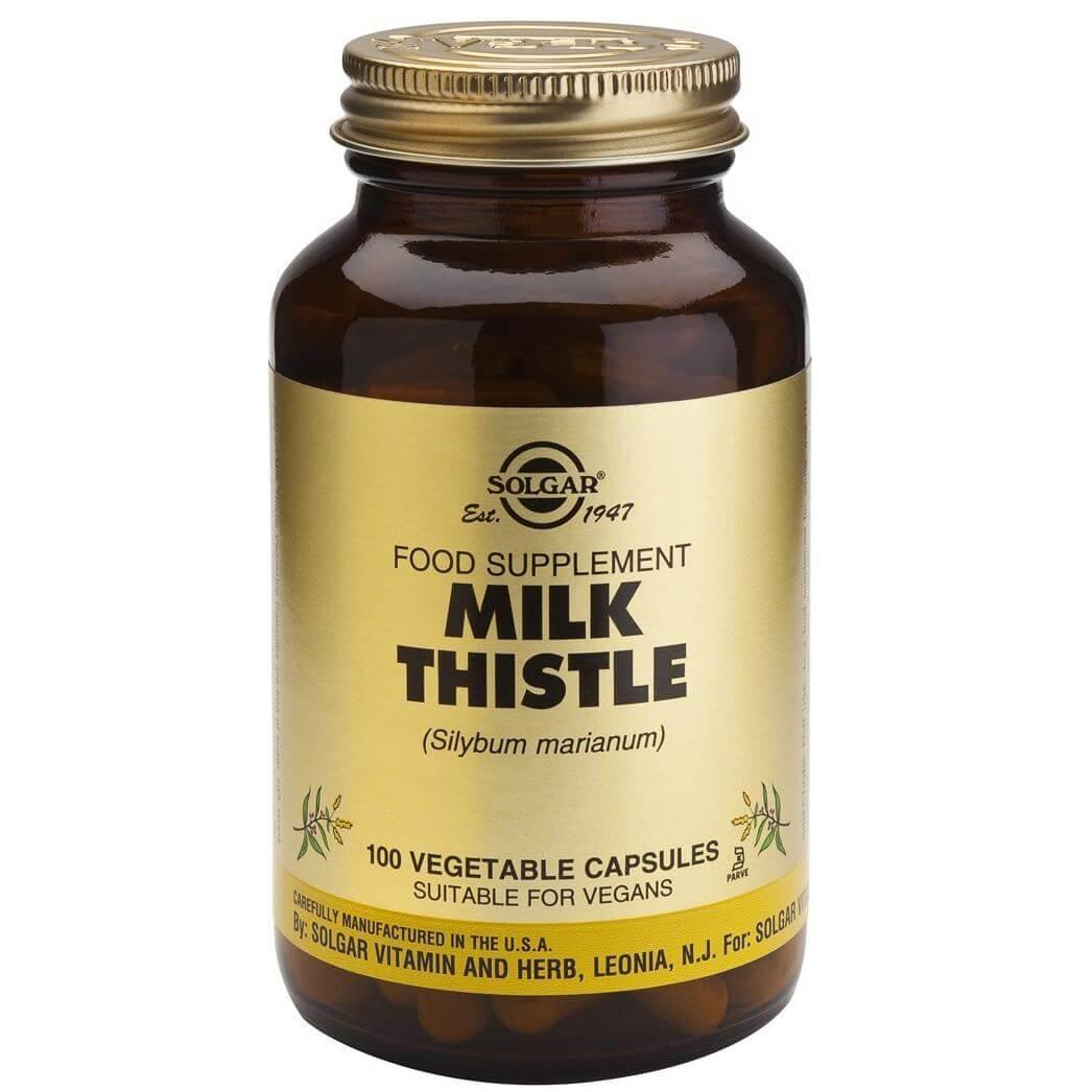 Solgar Milk Thistle Συμπλήρωμα Διατροφής Ισχυρό Αντιοξειδωτικό με Αντιφλεγμονώδεις & Αντιοξειδωτικές Ιδιότητες veg.caps – 50 veg.caps