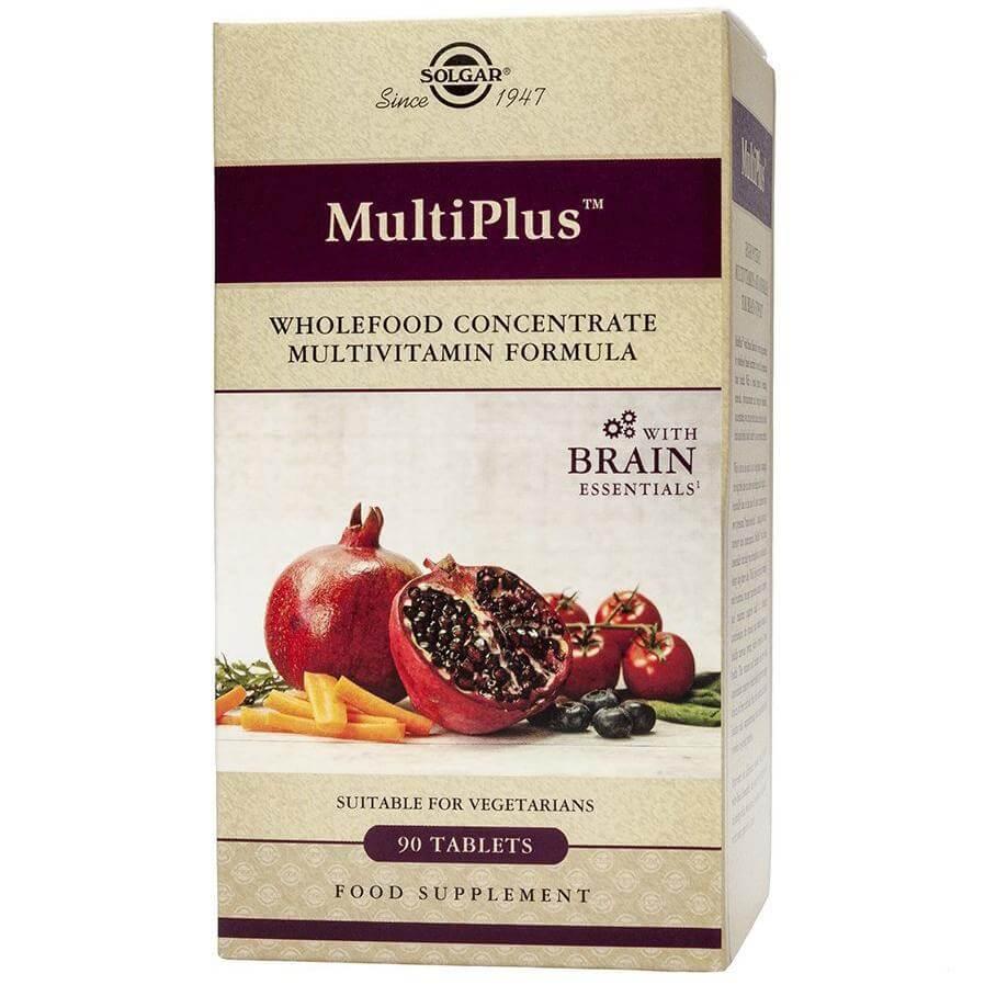 Solgar Multiplus With Brain Essentials Συμπλήρωμα Διατροφής, Προηγμένη Φόρμουλα που Ενισχύει την Εγκεφαλική Λειτουργία 90s