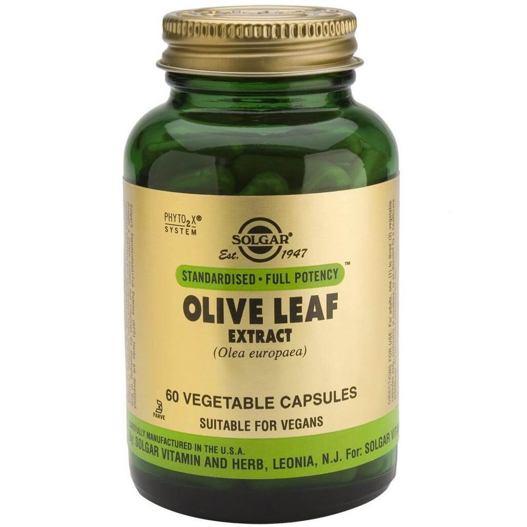 Solgar Olive Leaf Extract Συμπλήρωμα Διατροφής με Ισχυρές Αντιβακτηριακές, Αντιμικροβιακές & Ιδιότητες Κατά των Ιών 60veg.caps