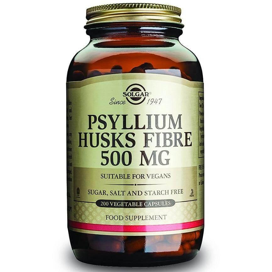 Solgar Psyllium Husks Fibre Συμπλήρωμα Διατροφής που Συμβάλλει στον Ομαλό Καθαρισμό του Εντερικού Συστήματος veg.caps/powder – 500mg 200veg.caps