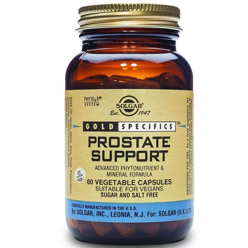 Solgar Prostate Support Συμπλήρωμα Διατροφής, Αντιμετωπίζει τα Συμπτώματα που Σχετίζονται με Καλοήθη Υπερπλασία Προστάτη 60caps
