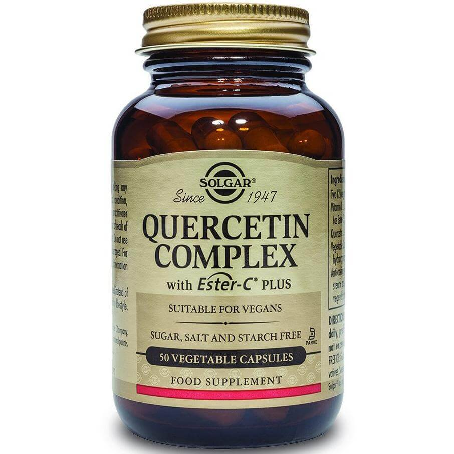 Solgar Quercetin Complex Συμπλήρωμα Διατροφής Εξαιρετικά Χρήσιμο στην Αντιμετώπιση Συμπτωμάτων Αλλεργίας veg.caps – 50 veg.caps