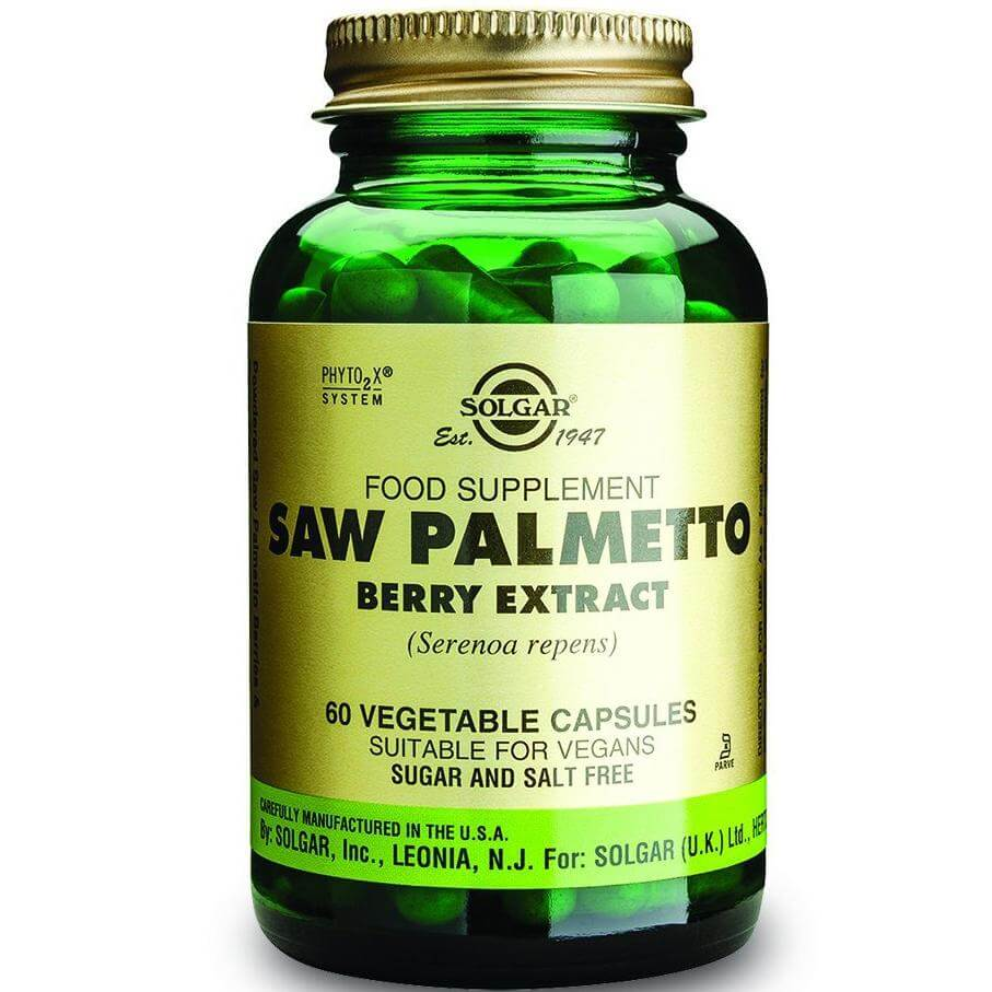 Solgar Sfp Saw Palmetto Berry Extract Συμπλήρωμα Διατροφής Βοηθάει στην Μείωση των Συμπτωμάτων του Προστάτη 60veg.caps