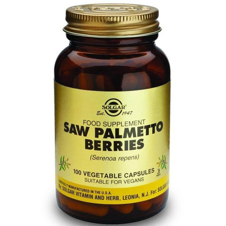 Solgar Saw Palmetto Berries Συμπλήρωμα Διατροφής που Βοηθάει στην Μείωση των Συμπτωμάτων του Προστάτη 100veg.caps