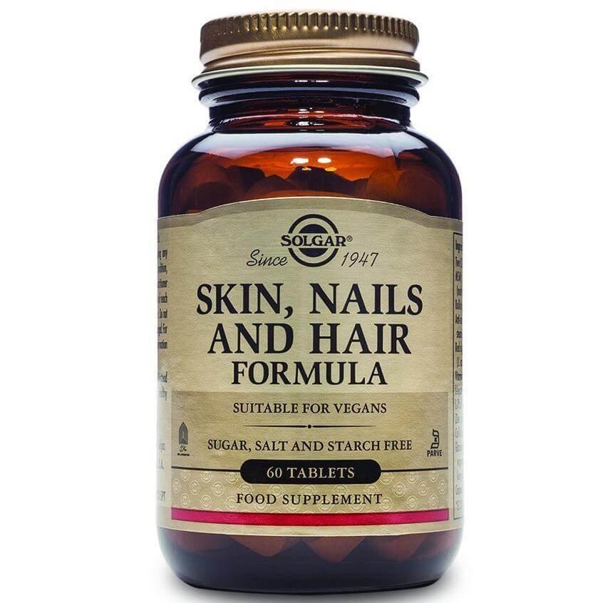 Solgar Skin Nails & Hair Formula Συμπλήρωμα Διατροφής για την Υγεία των Μαλλιών, Νυχιών & του Δέρματος tabs – 60 tabs
