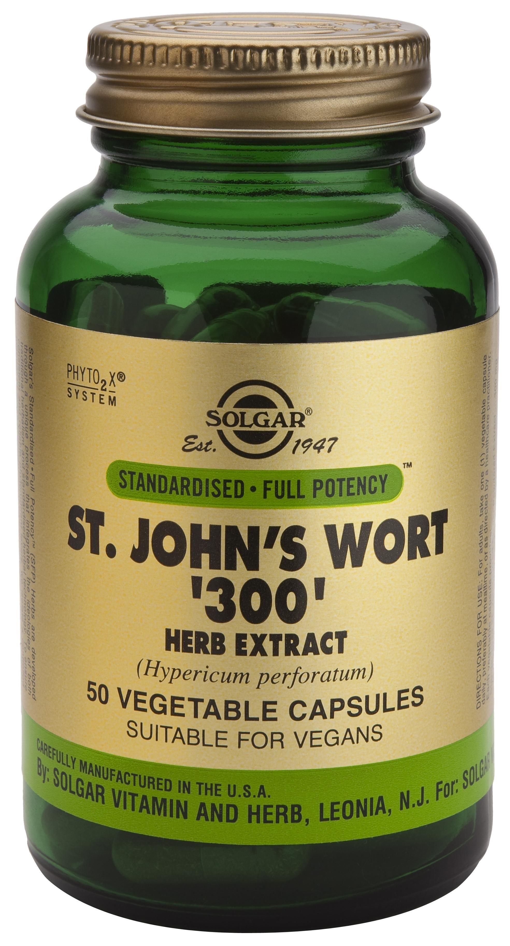 Solgar Sfp St. John's Wort Herb Extract Συμπλήρωμα Διατροφής με Αντικαταθλιπτικές Ιδιότητες veg.caps – 300mg 50veg.caps