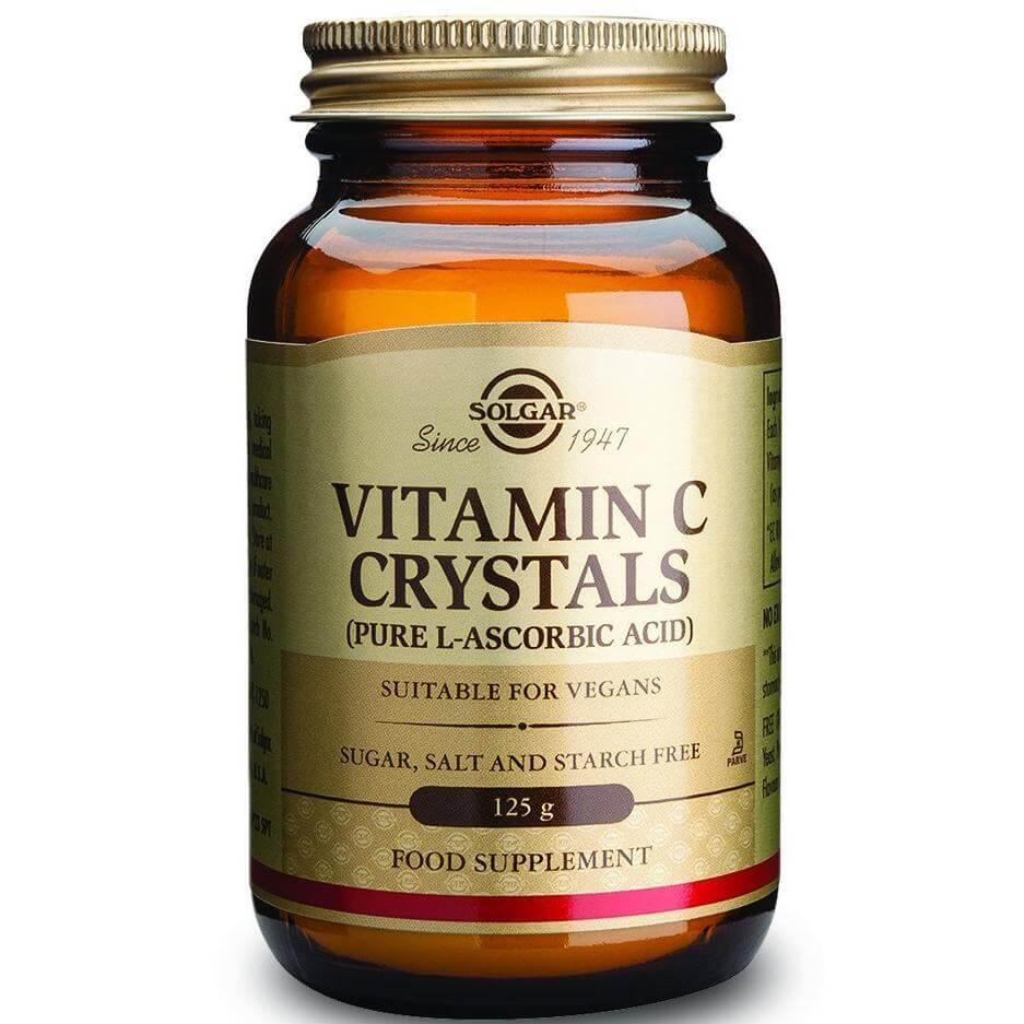 Solgar Vitamin C Crystals Συμπλήρωμα Διατροφής Βιταμίνης C σε Σκόνη 125g powder