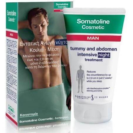 Somatoline Cosmetic Man 7 Νύχτες, Αγωγή Αντιμετώπισης για τον Άνδρα του Τοπικού Λίπους σε Κοιλιά – Μέση 150ml
