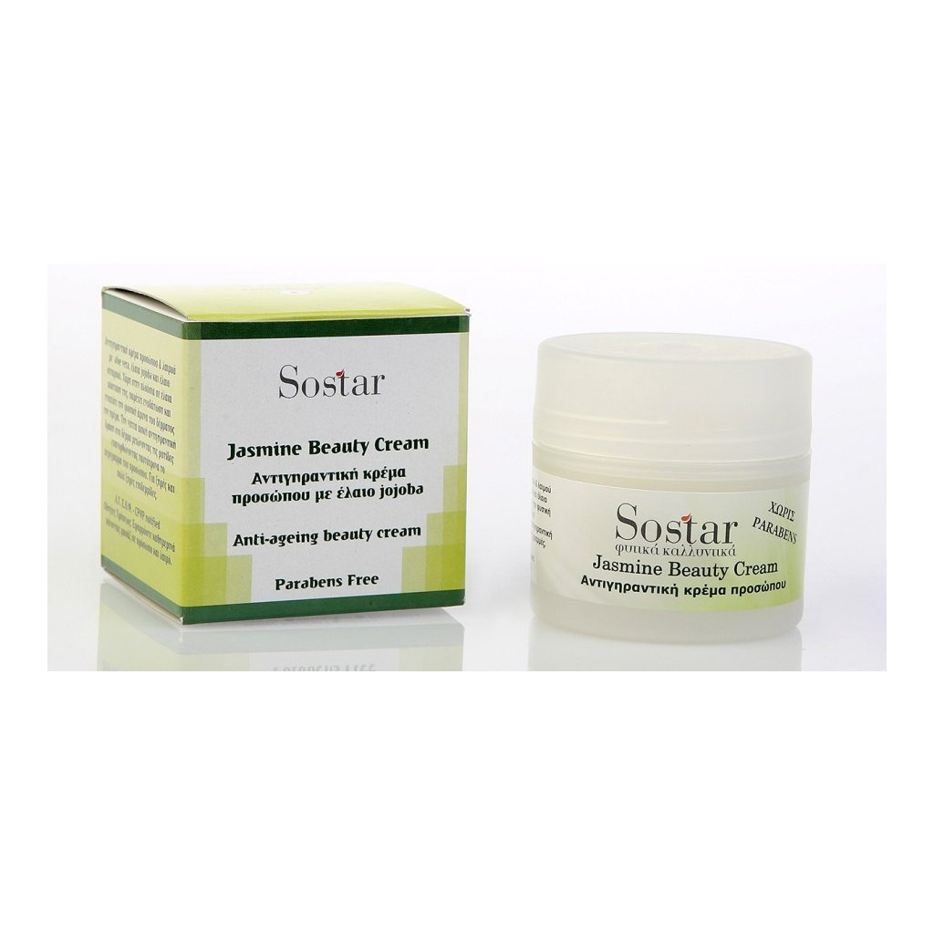 Sostar Jasmine Beauty Cream Αντιγηραντική Κρέμα Προσώπου για Ξηρές – Πολύ Ξηρές Επιδερμίδες 50ml