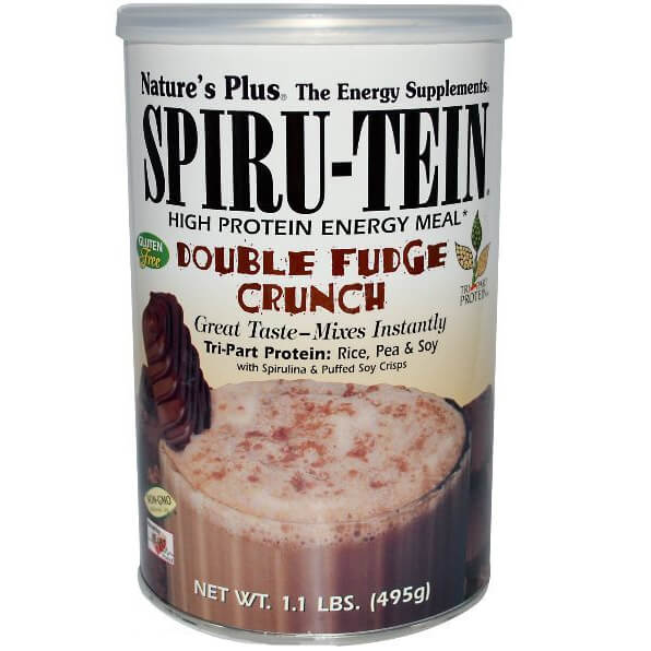 Natures Plus Spiru-TeinΣυμπλήρωμα Διατροφήςγια Ενέργεια, σε Σκόνη με Γεύση Double Fudge Crunch 495gr