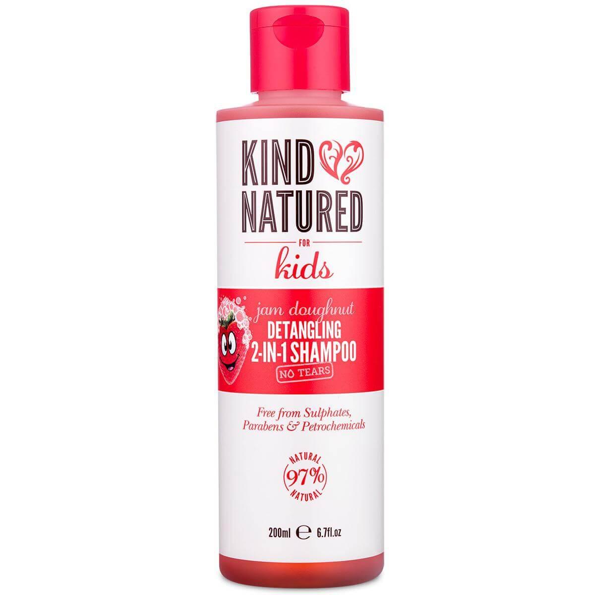 Kind Natured Jam Dougnut Detangling 2-In-1 Shampoo No Tears Παιδικό Σαμπουάν με Άρωμα Φράουλας που Ξεμπερδεύει τα Μαλλιά 200ml