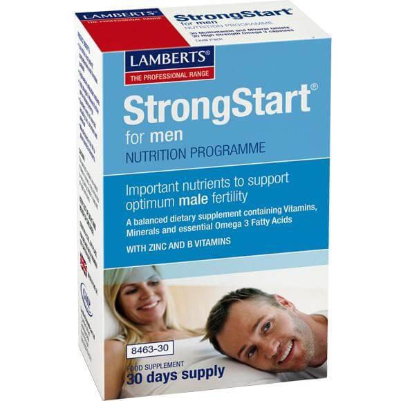 Lamberts Strong Start for Men Συμπλήρωμα Διατροφής για την Υποστήριξη της Ανδρικής Γονιμότητας 30tabs