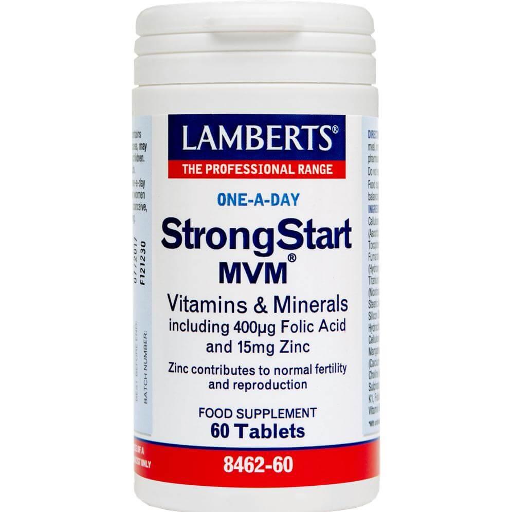 Lamberts Strong Start MVM Συμπλήρωμα Διατροφής για τηΠερίοδο της Εγκυμοσύνης (πριν και μετά)60tabs