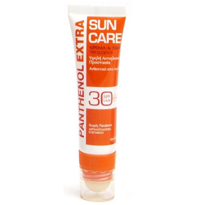 Medisei Panthenol Extra Sun Care Face Cream & Stick Spf30, 30 ml
