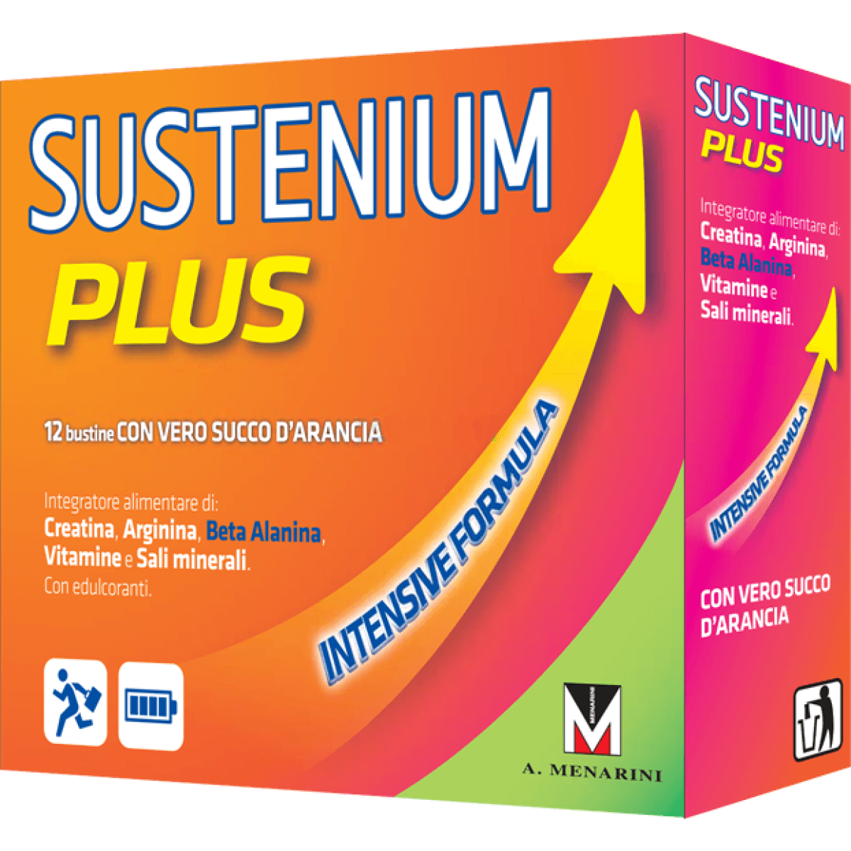Menarini Sustenium Plus Συμπλήρωμα Διατροφής με Κρεατίνη, Αργινίνη, Βήτα-Αλανίνη, Βιταμίνες & Μέταλλα 22sachets