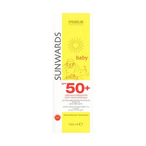Synchroline Sunwards Baby Milk SPF50 Αντηλιακό Γαλάκτωμα Για Εην Ευαίσθητη Επιδερμίδα Των Παιδιών 150ml