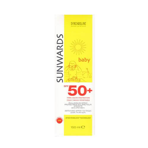 Synchroline Sunwards Baby Spray Αντηλιακό Γαλάκτωμα Spf50+ 150ml