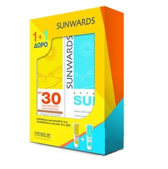 Synchroline Sunwards Face Cream Teintee Spf30, Αντηλιακή Κρέμα Προσώπου Με Χρώμα 50 ml & ΔΩΡΟ After Sun Face Cream 50ml