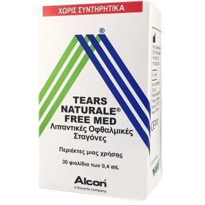 Alcon Tears Naturale Free Med Οφθαλμικές Σταγόνες σε Περιέκτες μιας Χρήσης, για την Ανακούφιση από την Ξηροφθαλμία 30×0.4 ml