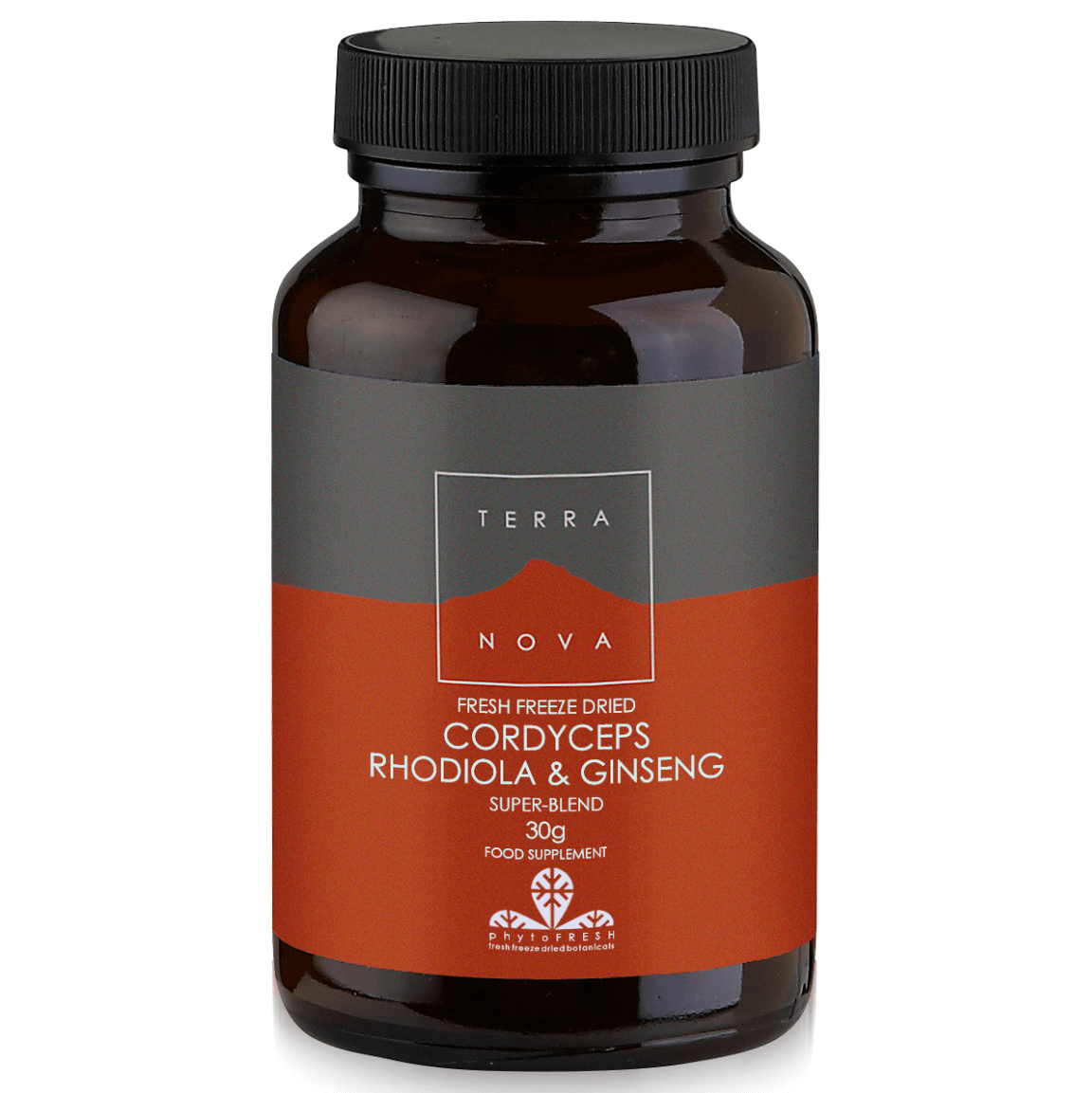 Terranova Cordyceps Rhodiola & Ginseng Άμεση Φυσική και Πνευματική Τόνωση για Υψηλές Επιδόσεις 30gr