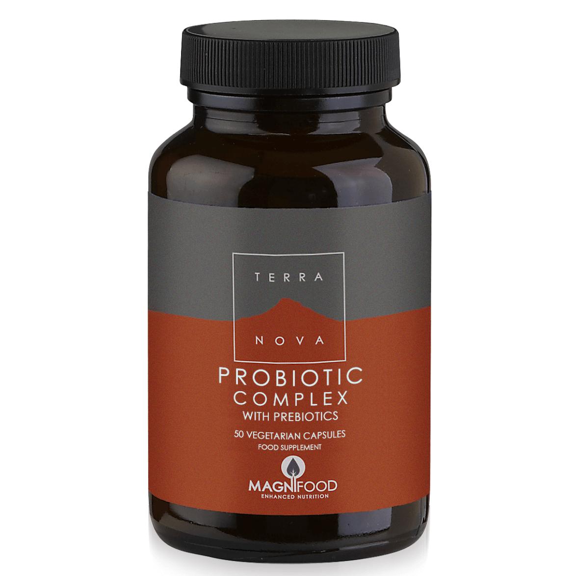 Terranova Probiotic Complex with Ρrebiotics Μοναδικός Συνδυασμός Προβιοτικών, Πρεβιοτικών με Μέγιστη Αποτελεσματικότητα 50Caps