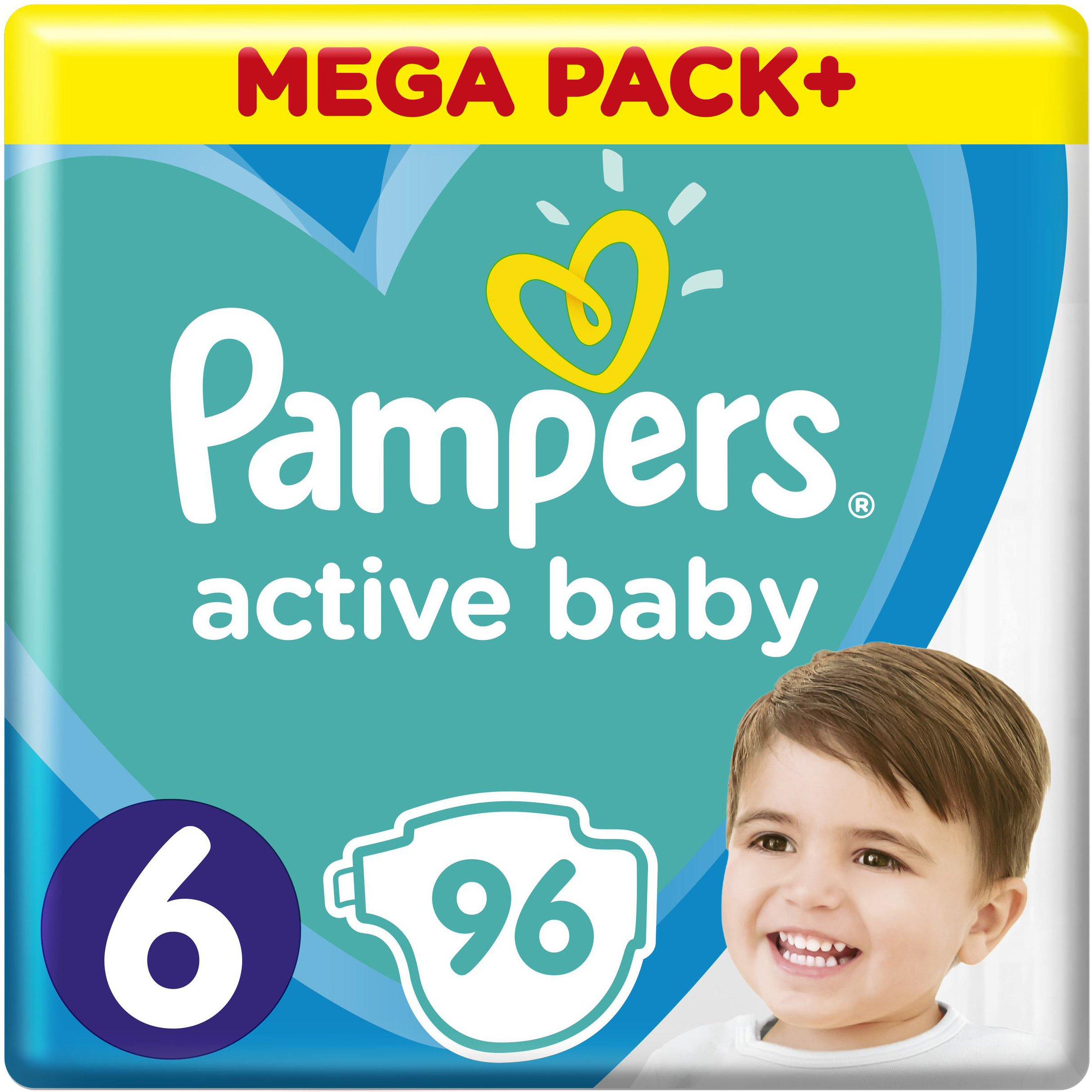 Pampers Active Baby Πάνες Mega Pack No6 (13-18 kg) 96 Πάνες μητέρα παιδί   περιποίηση για το μωρό   πάνες για το μωρό