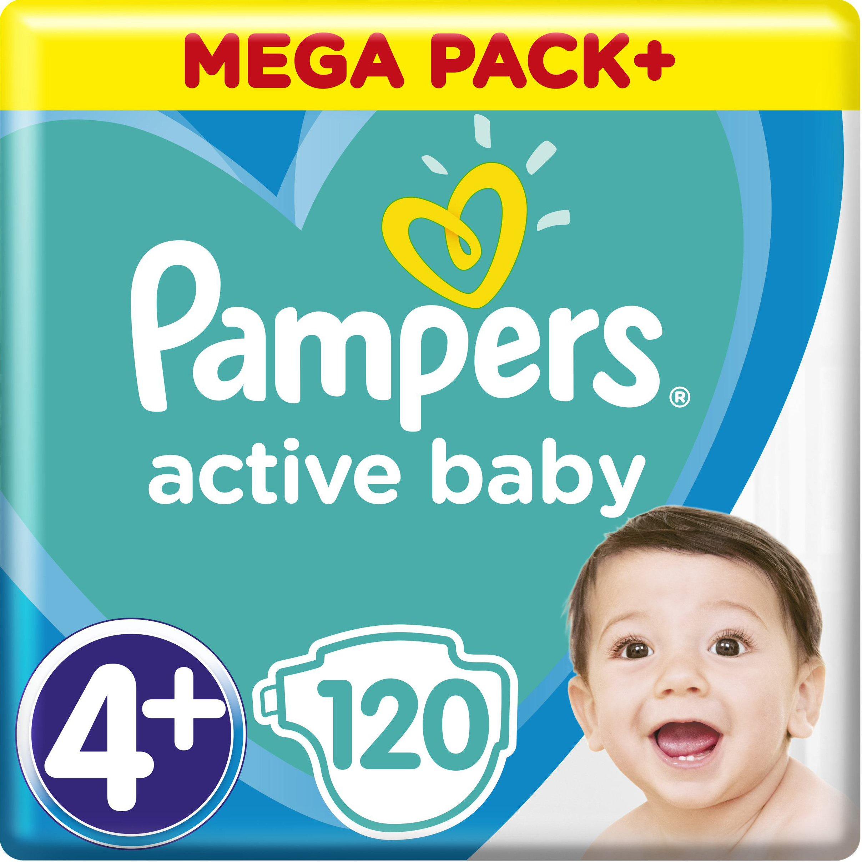 Pampers Active Baby Πάνες Mega Pack No4+ 10-15kg 120 Πάνες μητέρα παιδί   περιποίηση για το μωρό   πάνες για το μωρό