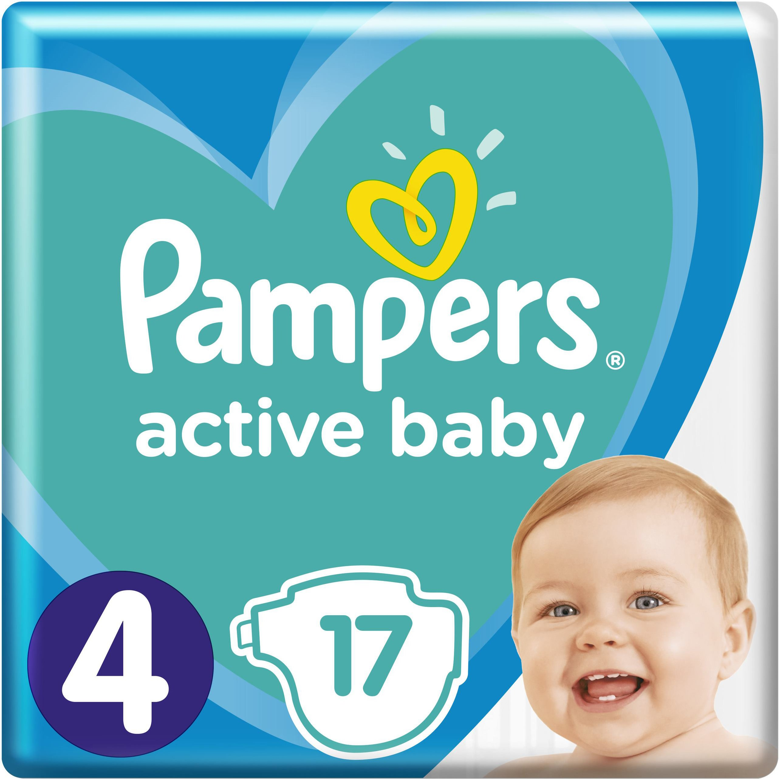 Pampers Active Baby Πάνες Νο4 (9-14 kg), 17 Πάνες μητέρα παιδί   περιποίηση για το μωρό   πάνες για το μωρό