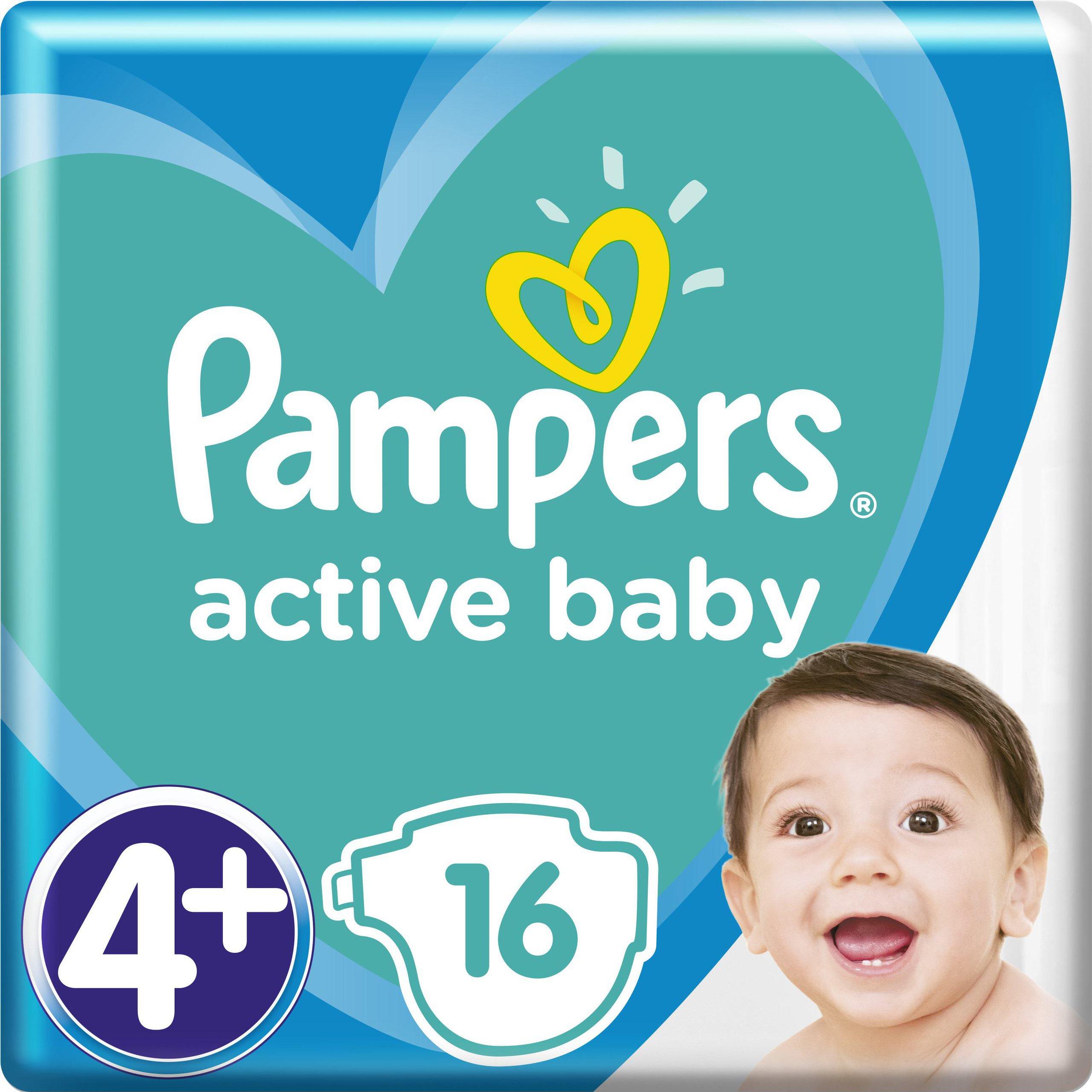 Pampers Active Baby Πάνες Νο4+ (10-15 kg), 16 Πάνες μητέρα παιδί   περιποίηση για το μωρό   πάνες για το μωρό