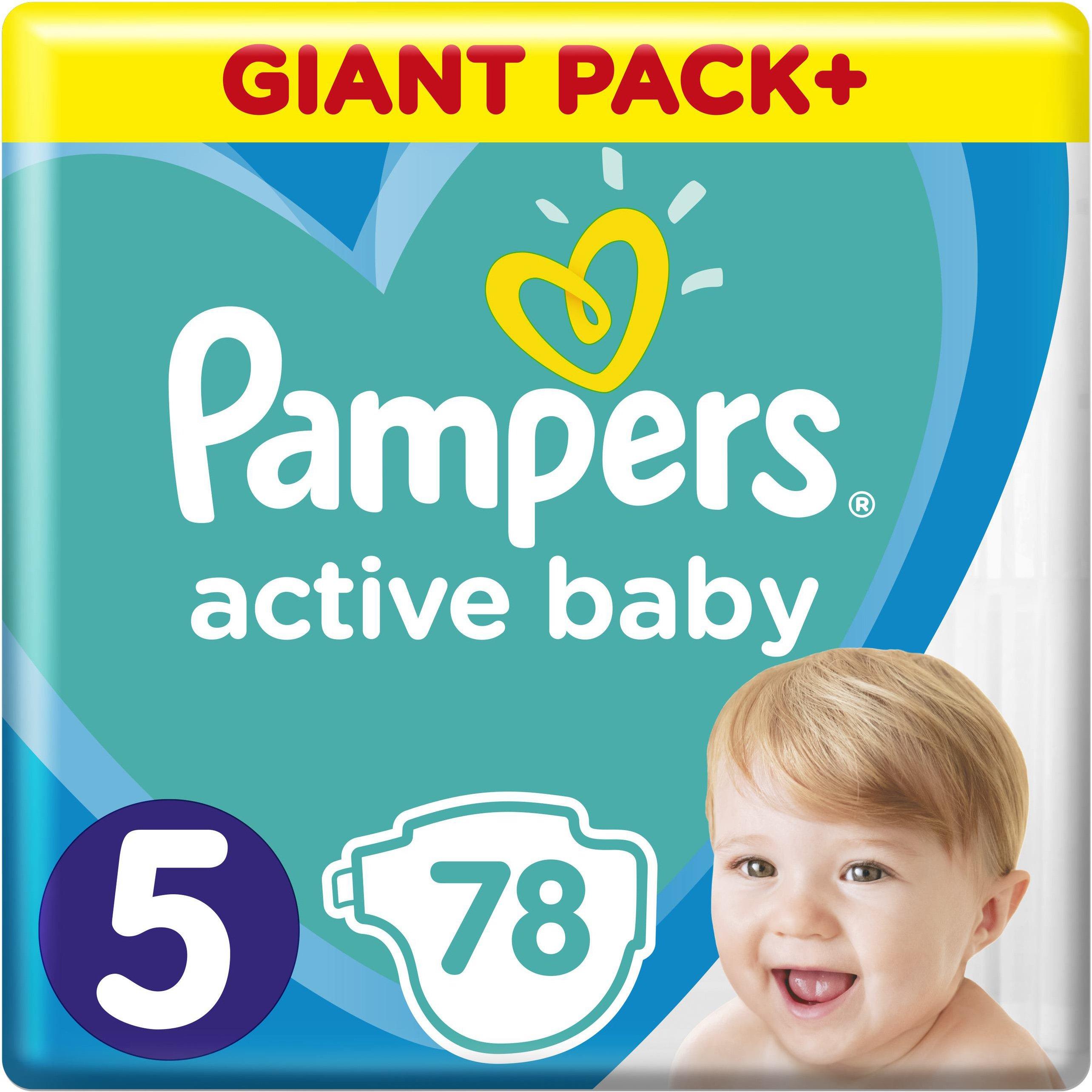 Pampers Active Baby Πάνες Giant Pack No5 (11-16 kg), 78 Πάνες μητέρα παιδί   περιποίηση για το μωρό   πάνες για το μωρό