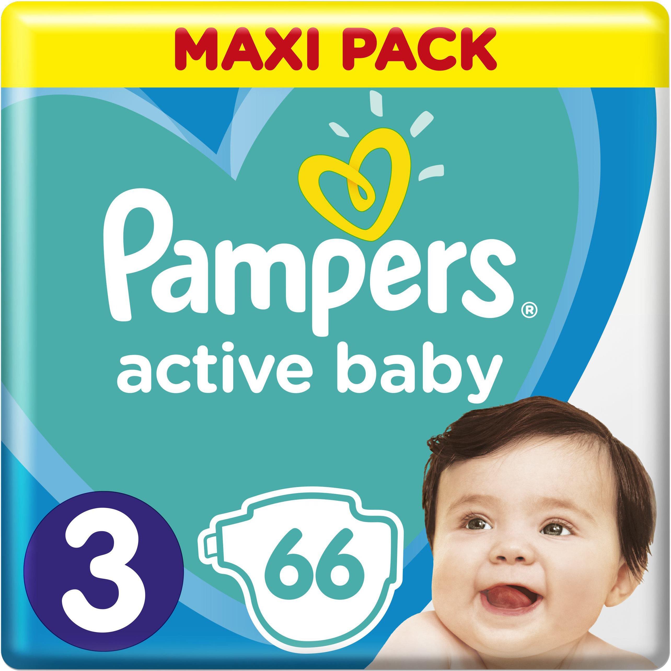 Pampers Active Baby Πάνες Maxi Pack No3 (6-10 kg), 66 Πάνες μητέρα παιδί   περιποίηση για το μωρό   πάνες για το μωρό