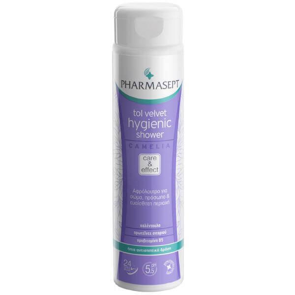 Pharmasept Tol Velvet Hygienic Shower Camelia Υγρό Υγιεινού Καθαρισμού Χωρίς Αλκάλια & Σαπούνι 300ml