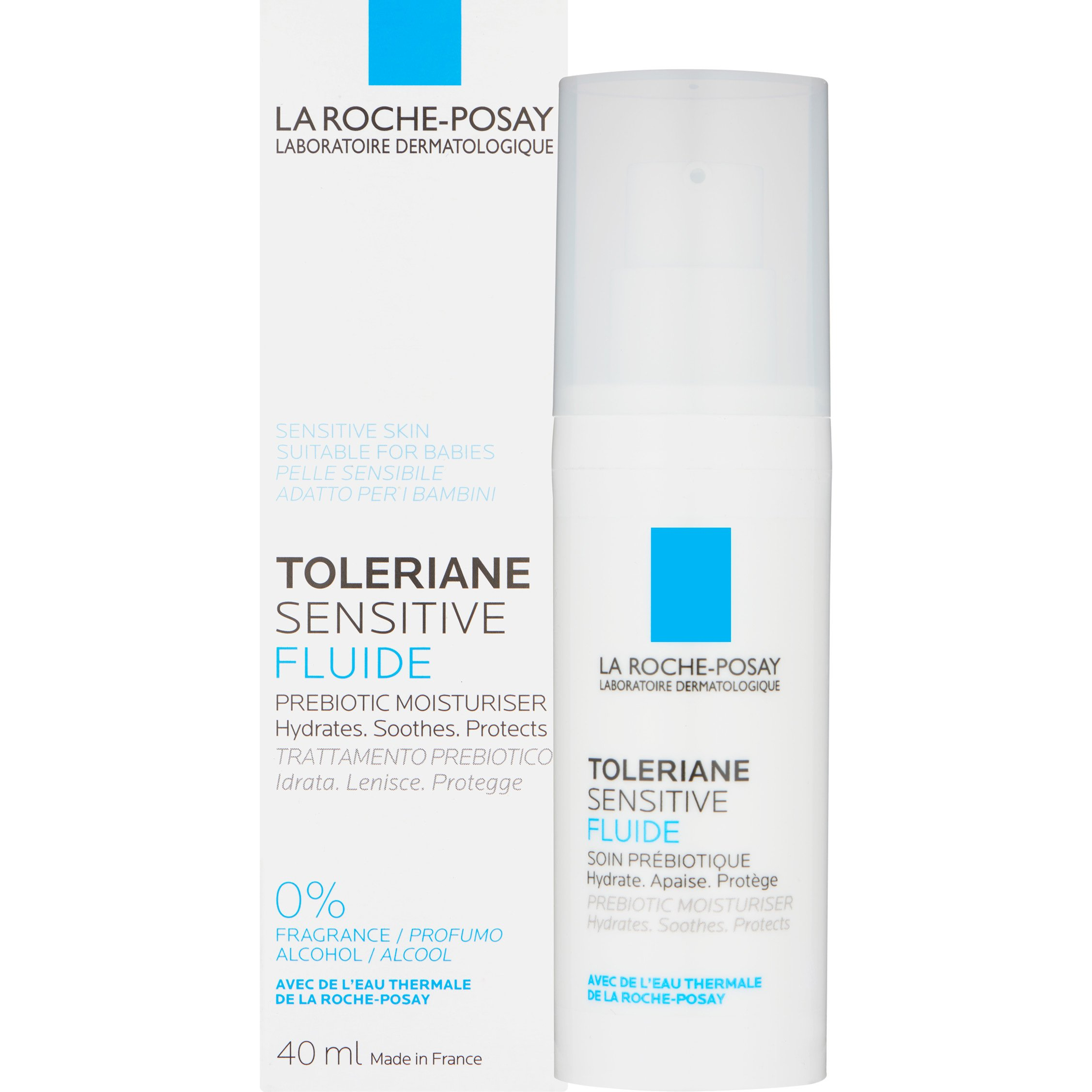 La Roche-Posay Toleriane Sensitive FluideΛεπτόρρευστη Ενυδατική Κρέμα Προσώπου με Πρεβιοτικά 40ml