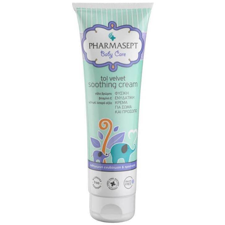 Pharmasept Tol velvet Baby Soothing Cream 100 % Φυσική Ενυδατική Κρέμα για το Πρ μητέρα παιδί   περιποίηση για το μωρό   αλλαγή πάνας   σύγκαμα
