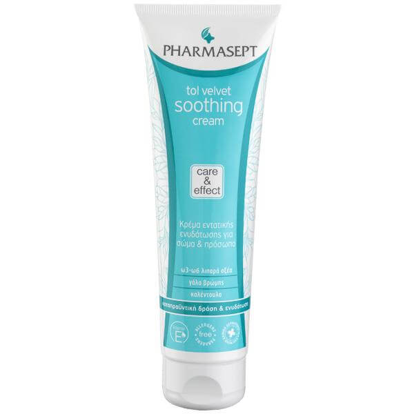 Pharmasept Tol velvet Soothing Cream Face & Body Κρέμα Εντατικής Ενυδάτωσης για Σώμα & Πρόσωπο, με Θρεπτικά Συστατικά 150ml