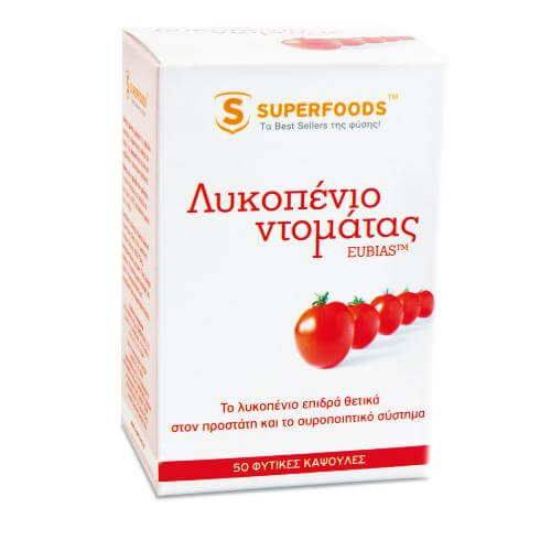 Superfoods Λυκοπένιο Ντομάτας EUBIAS Super-Λυκοπένιο Για Τον Οργανισμό Σας 50caps