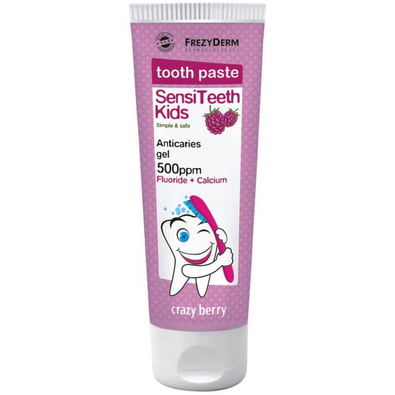 Frezyderm SensiTeeth Kids Tooth Paste 500ppm + Calcium Παιδική Οδοντόκρεμα Για Παιδιά Από 3 έως 6 Ετών 50ml