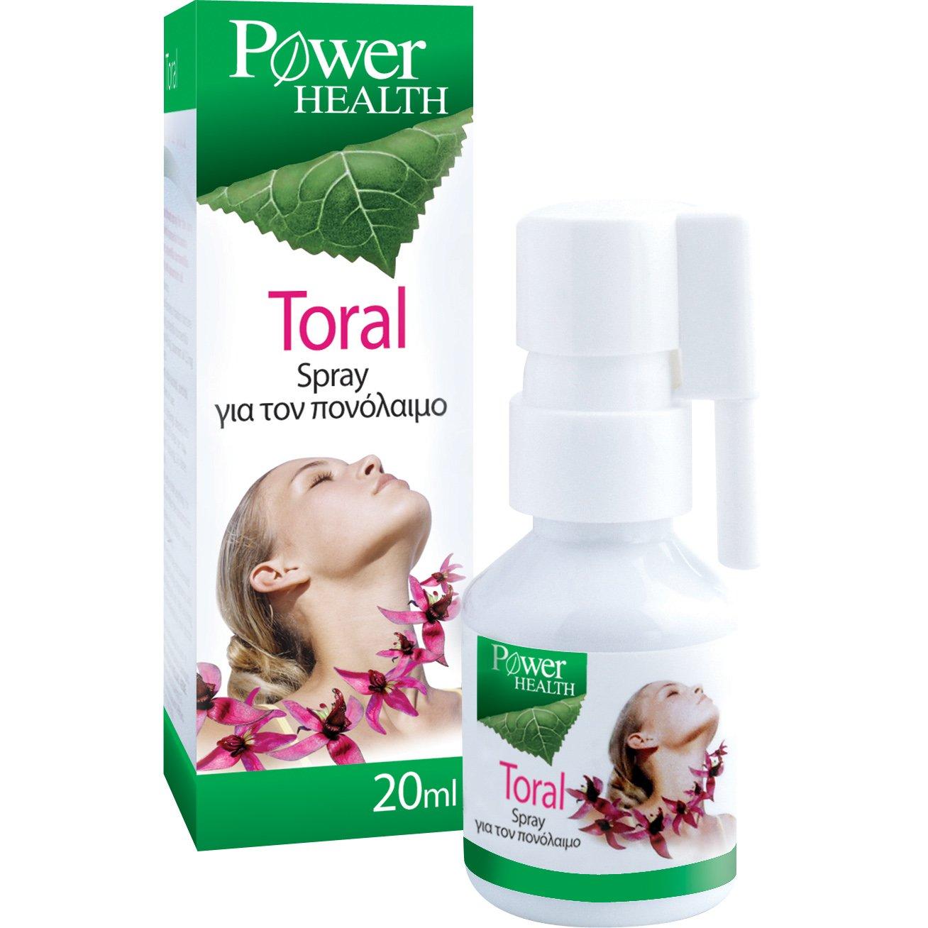 Power Health Toral Spray Φυσικό Σπρέυ για τον Πονόλαιμο και τον Ερεθισμένο Λαιμό με Παραδοσιακά Φυτά 20ml