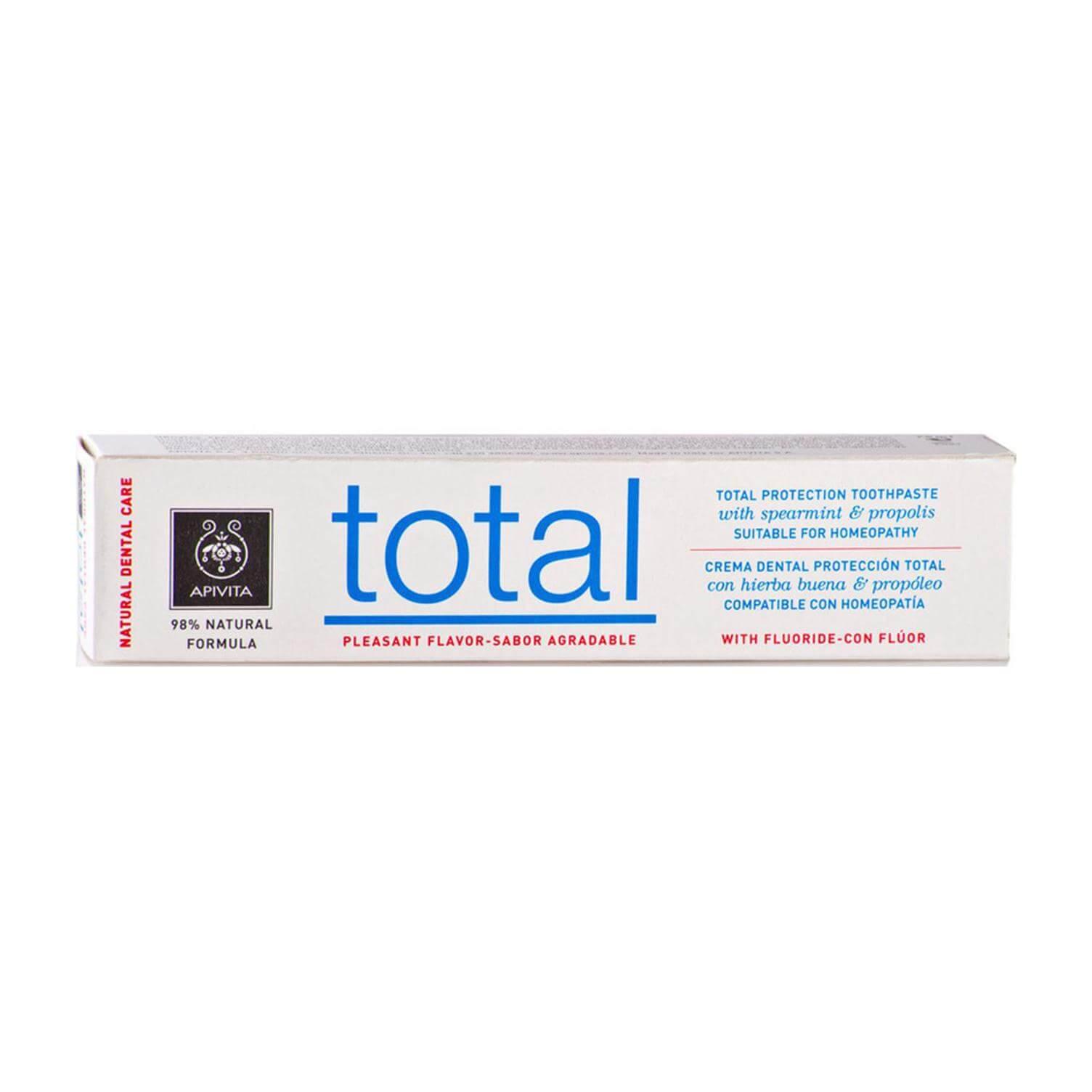 Apivita Natural Dental Care Total Οδοντόκρεμα Για Ολοκληρωμένη Προστασία Με Πρόπολη & Δυόσμο 75ml