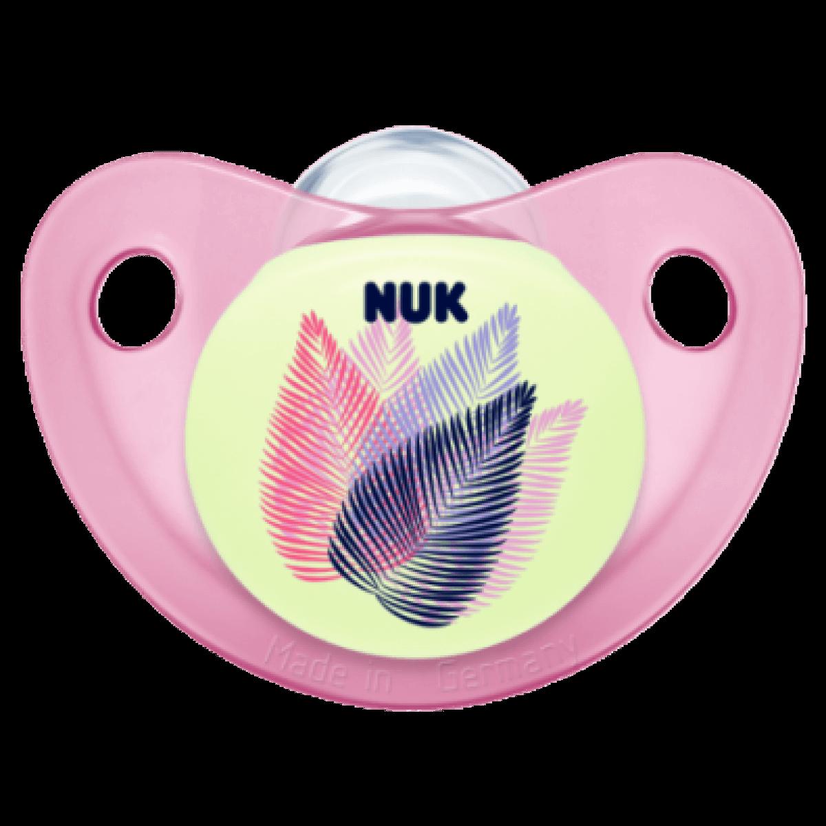 NukTrendline Night & Day Πιπίλα Σιλικόνης Χωρίς Κρίκο BPA Free – Μέγεθος 1 (0-6 μηνών)