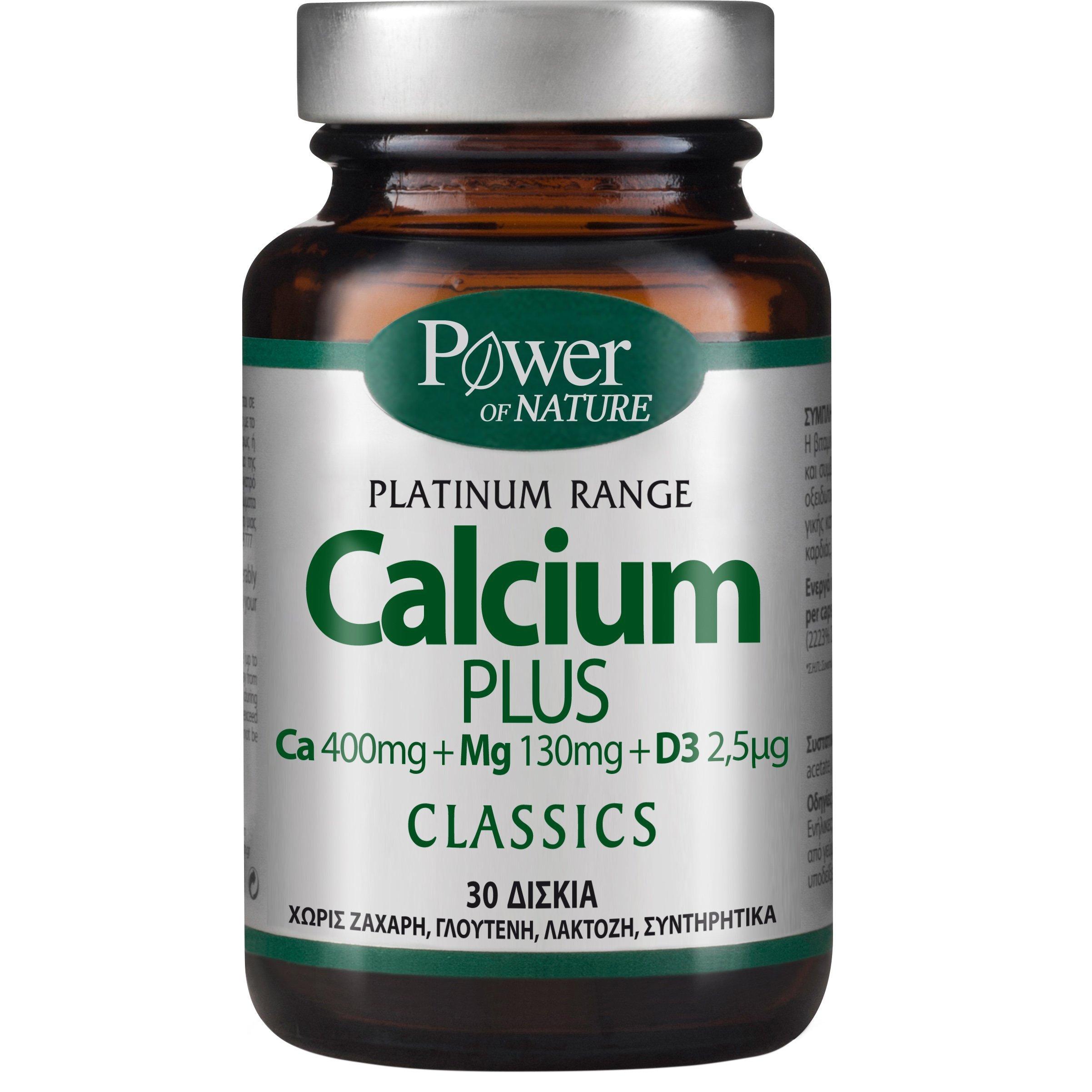 Power Health Platinum Range Calcium Plus Συμπλήρωμα Διατροφής με Ασβέστιο Μαγνήσιο & Βιταμίνη D3 30tabs