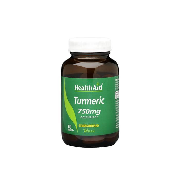 Health Aid Turmeric 750mg Κουρκουμίνη Ισχυρό Αντιοξειδωτικό Αντιφλεγμονώδες 60caps