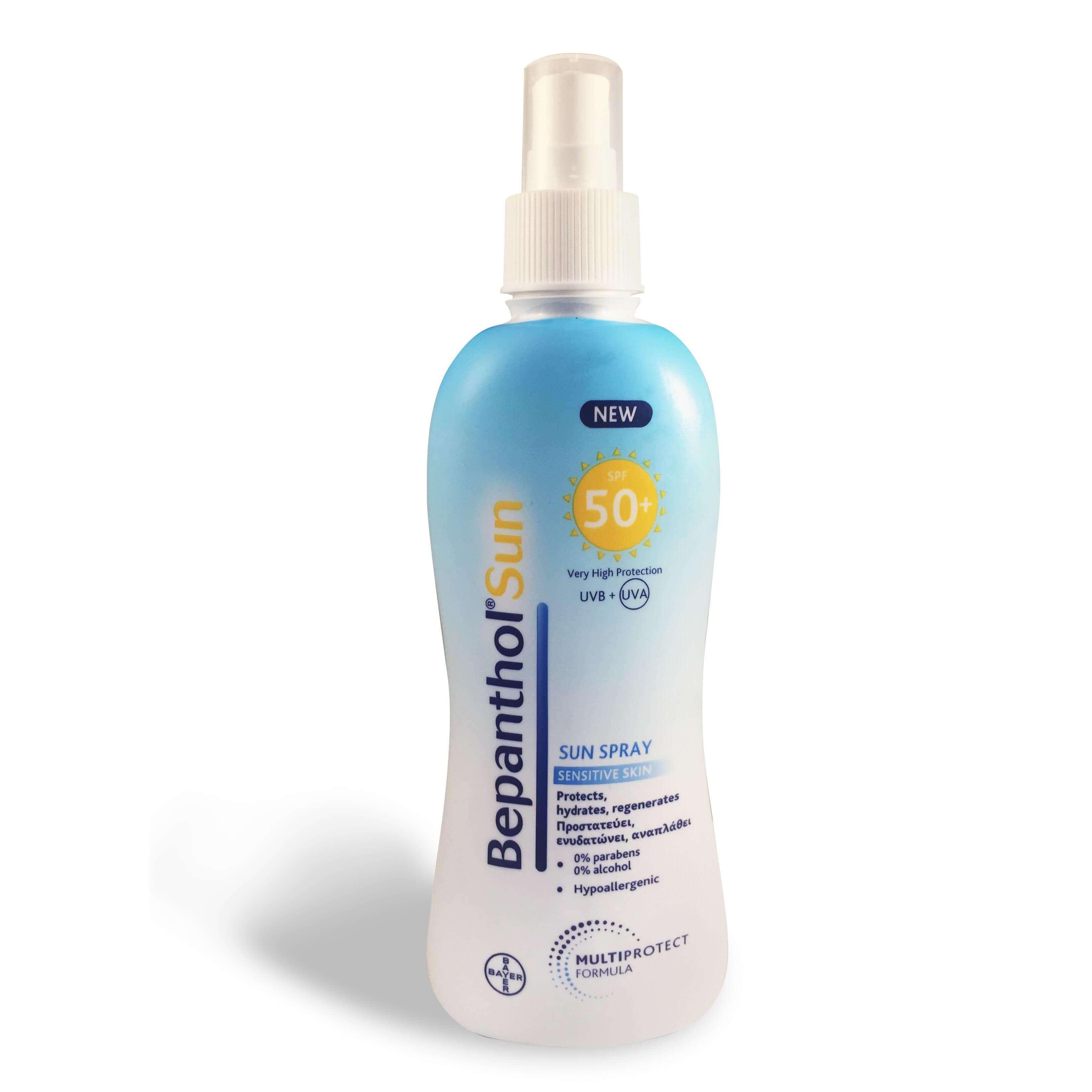 Bepanthol Sun Lotion Spray Spf50+ Αντηλιακό Γαλάκτωμα Σώματος Για Το Ευαίσθητο Δέρμα 200ml