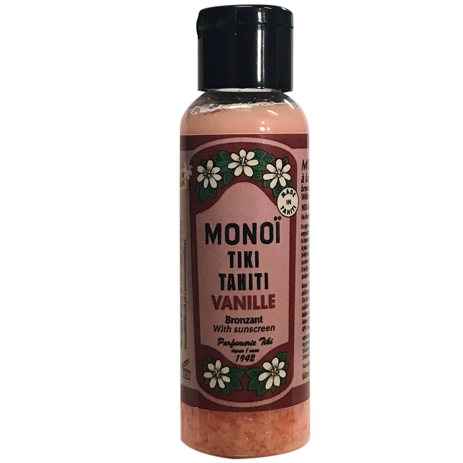 Monoi Tiki Tahiti Vanille Bronzant With Sunscreen Αντηλιακό Λάδι Μαυρίσματος με Άρωμα Βανίλιας 60ml
