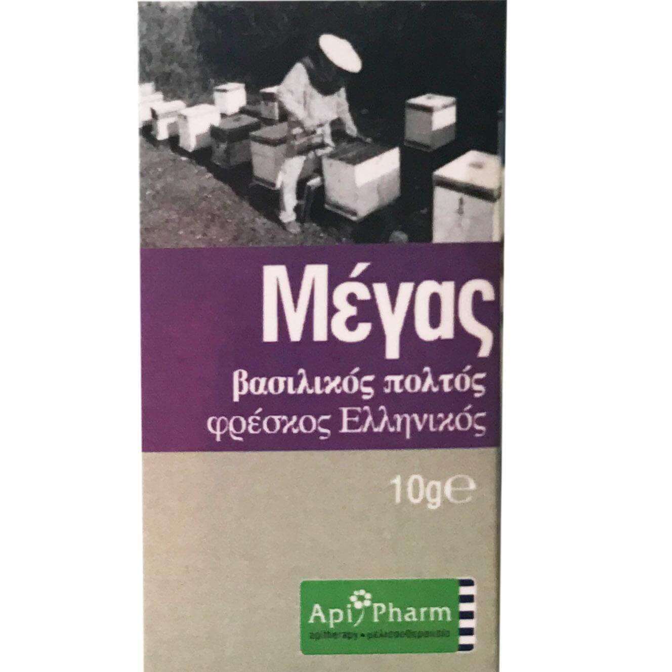 ApiPharm Μέγας Φρέσκος Ελληνικός Βασιλικός Πολτός Βιολογικής Καλλιέργειας 10gr