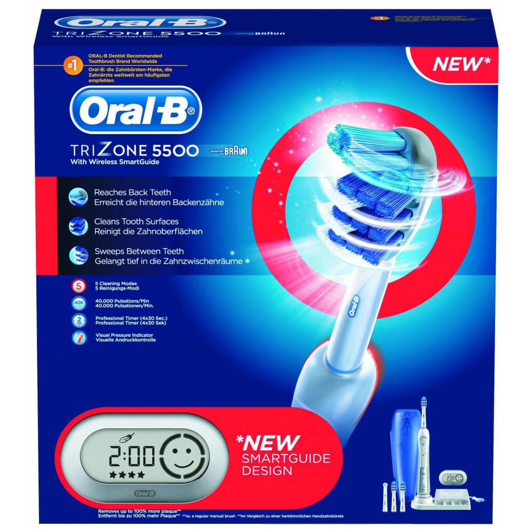 Oral-B Trizone 5500 With SmartGuide Ηλεκτρική Οδοντόβουρτσα