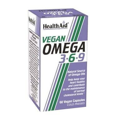 Health Aid Vegan Omega 3 6 9Λιπαρά Οξέα Ωμέγα 3 6 9 από Έλαιο Λιναρόσπορου 60caps