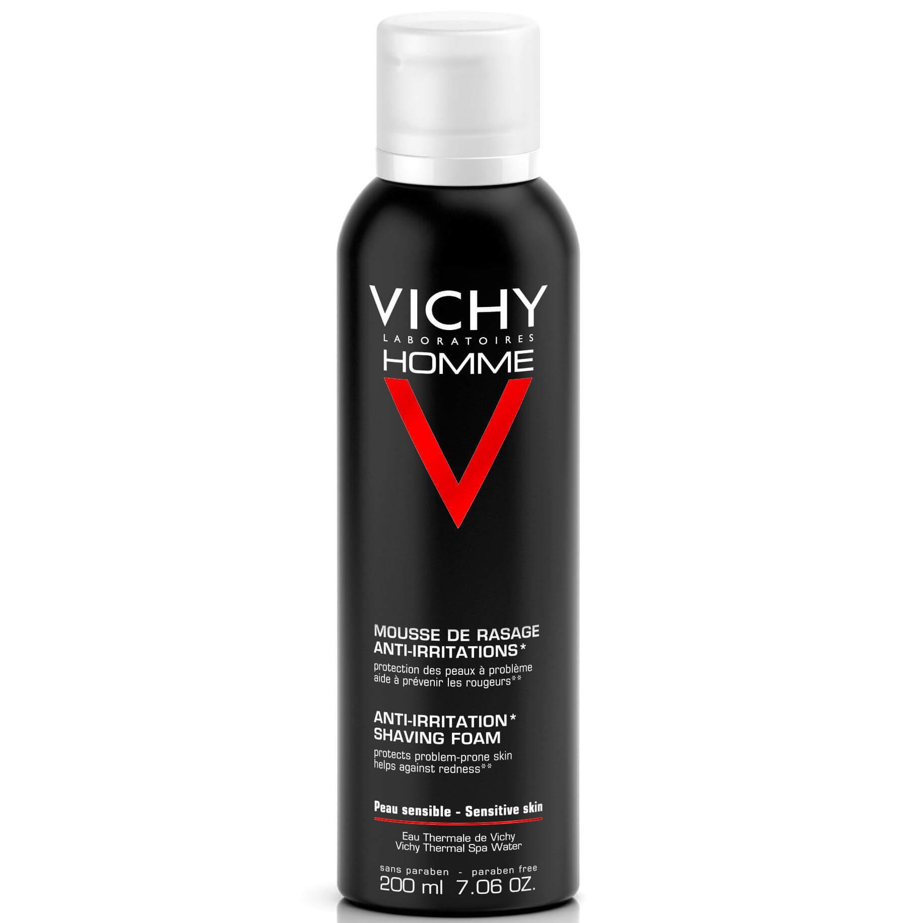 Vichy Homme Αφρός Ξυρίσματος για Ευαίσθητες Επιδερμίδες για τον Άντρα 200ml 517