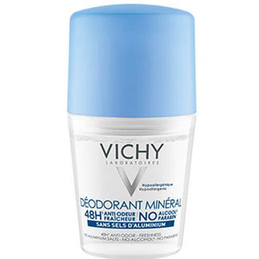 Vichy Deodorant Mineral Roll On Αποσμητικό Μέγιστη Ανοχή,Φρεσκάδα και Ενυδάτωση 50ml
