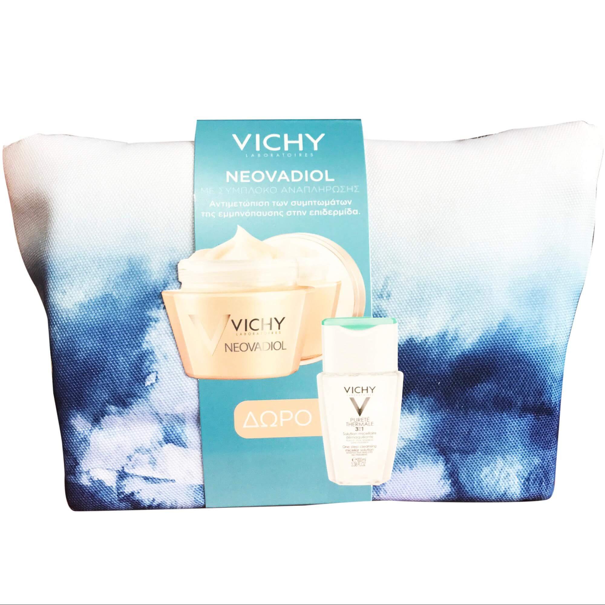 Vichy Πακέτο Προσφοράς NeovadiolΚρέμα Ημέρας50ml & ΔώροPurete Thermale 3-in-1 100ml &Neovadiol Elixir 3ml – Κανονικές-Μικτές Επιδερμίδες